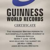 Guinness World Records Bear Grylls