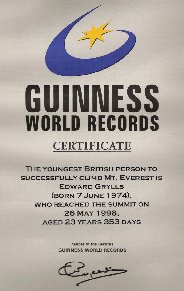 Guinness World Records | BearGrylls.fr