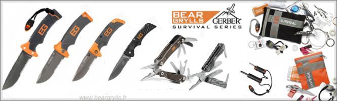 gamme de couteaux gerber Bear grylls