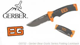 Couteau Series Folding Lockback Gerber Bear Grylls