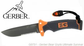 Couteau Ultimate Survival Gerber Bear Grylls