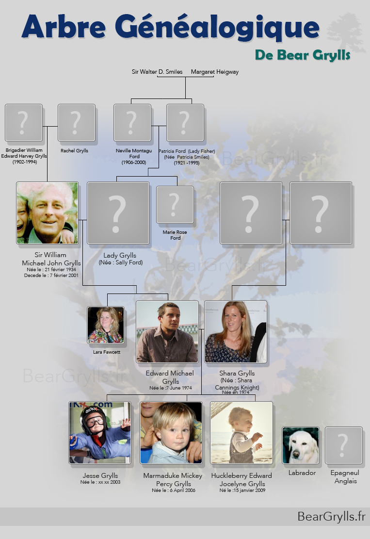 Arbre genealogique de Bear Grylls
