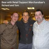 bear avec les merchandiser craghoppers