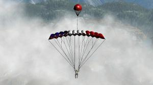 Man vs wild jeux video parachute