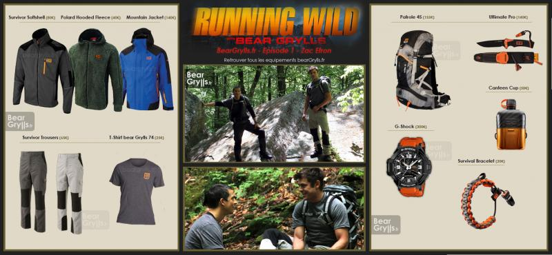 Running Wild with bear grylls equipements
