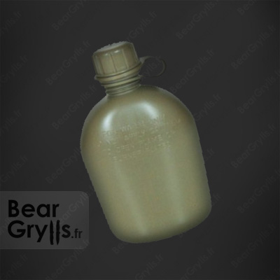 Gourde cantine Olive Drab plastique de Bear Grylls